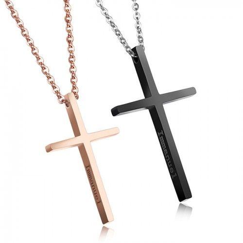 ペアネックレス 人気 安い ネックレス ペア ステンレス クロス 十字架 刻印無料 http://www.uitilove.com/pairnk08.html