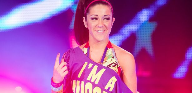 WWE Bayley Wearing Rocktape