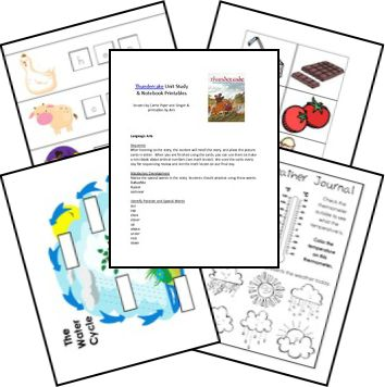Thunder Cake Unit Study Lesson Plan Notebook Printables FREE