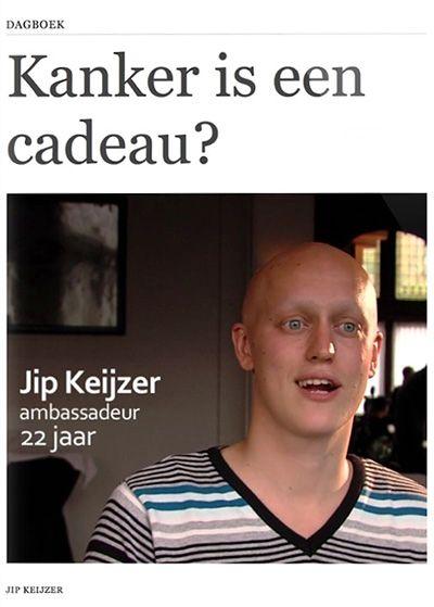 """""""Kanker is een cadeau?""""- Jip Keijzer  (gratis ebook, gepresenteerd op TEDxMaastricht)    Per jaar horen in Nederland ongeveer 2200 jonge mensen tussen de 18 en 35 jaar dat zij kanker hebben. 2200 x een mens, 2200 x een gezin of partner. Een mens die in de kracht van zijn leven hoort dat zijn toekomst niet meer zo vanzelfsprekend is. En dat het leven langs andere paden zal gaan dan gedacht. Voor hen. Voor hun dierbaren. Eén van hen is Jip Keijzer."""