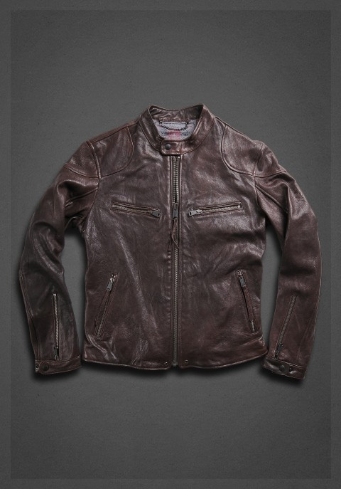 Aviator style jacket with zip brown. what a beaut
