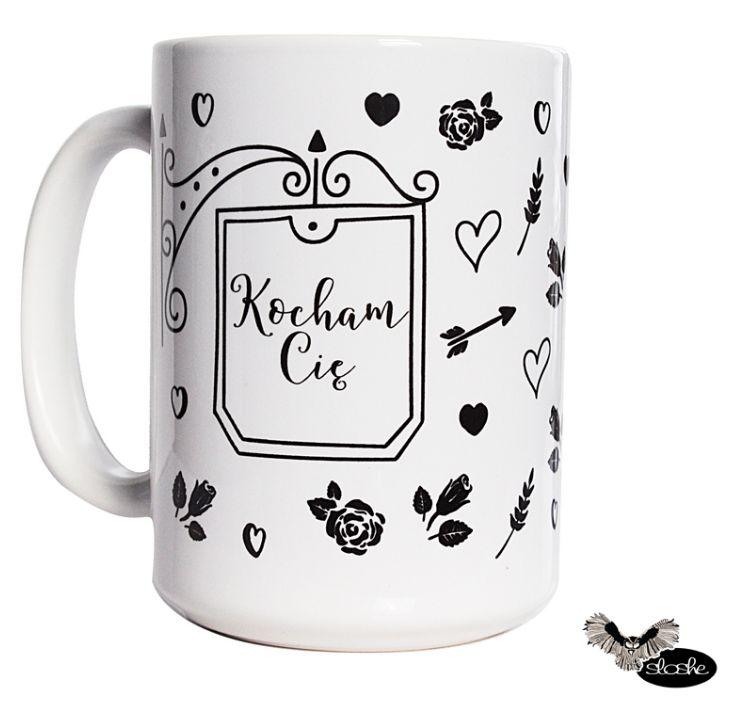 Kocham Cię, całym sercem kubek ceramiczny 330/450ml