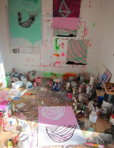 Sarah Yoder Artist Studio space