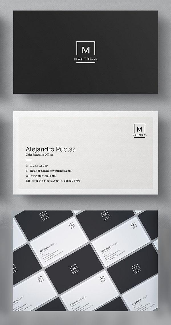 25 Elegant Business Cards Psd Templates Cardmi Pinterest