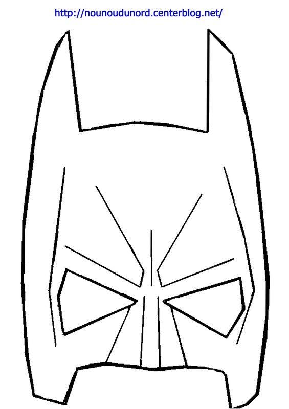Masque Batman à imprimer dessiné par nounoudunord