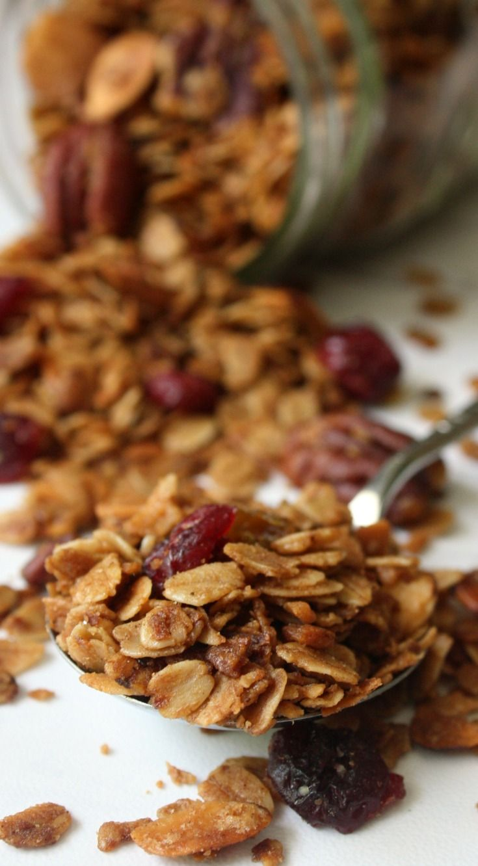 Homemade Pecan Raisin Granola Recipe from scratch. Make a big batch to serve…
