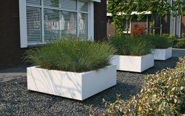 Polyester plantenbak `Square` 100x100x40cm   Polyester plantenbakken vierkant   grote plantenbak