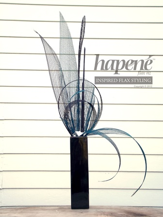 Turquoise Hapene arrangement - Hapene Online Store, flax flowers and arrangements ON SALE for $120