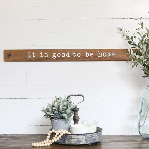 Hang our It Is Good To Be Home Wall Sign above any entryway or door way in your house to greet your family and friends with a warm farmhouse charm! For more wall decor please visit Decor Steals