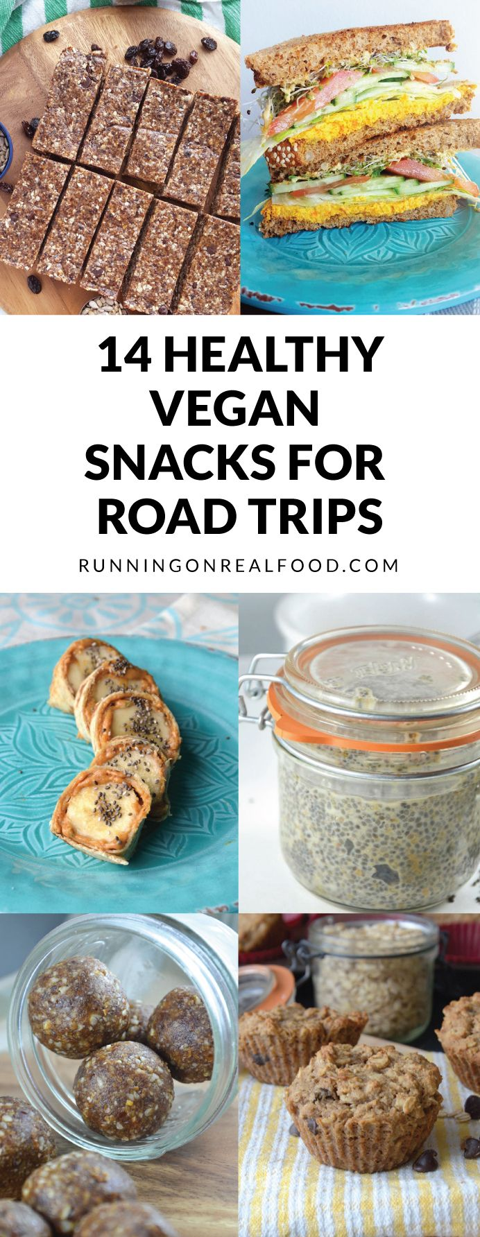 These 14 healthy vegan snacks will help you drive right by that gas station and arrive at your destination healthier, happier and feeling great! Easy, wholesome, delicous and completely plant-based. It's easier than you think to travel healthy! Works great for flights too.