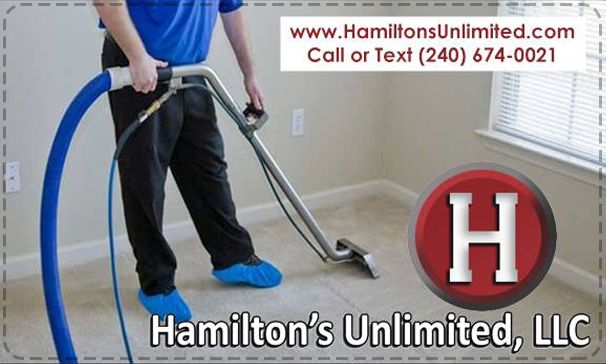 """""""Don't want to do it yourself? Professional carpet cleaning services. Let us do it for you! Hamilton's Unlimited performs professional carpet cleaning and restoration services in all. Text or Call (240) 674-0021 or Call our Office (301) 371-7800 VISIT www.HamiltonsUnlimited.com"""""""