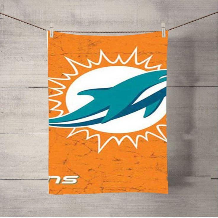 Miami Dolphins Rough Orange Bath Towel Beach Towels