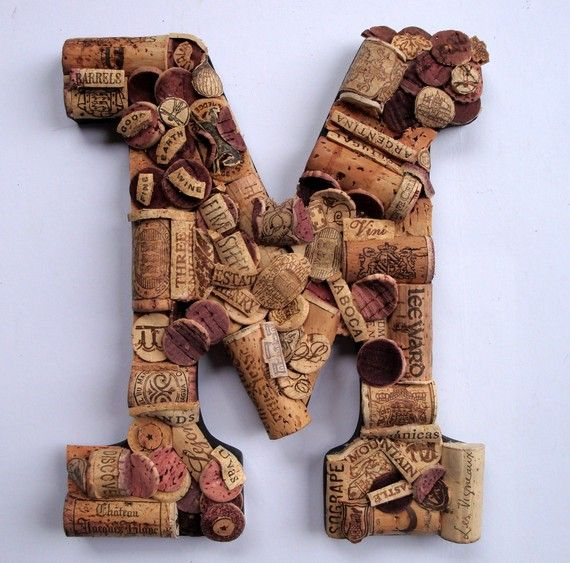 beautiful handmade vintage wine cork letter we have every letter