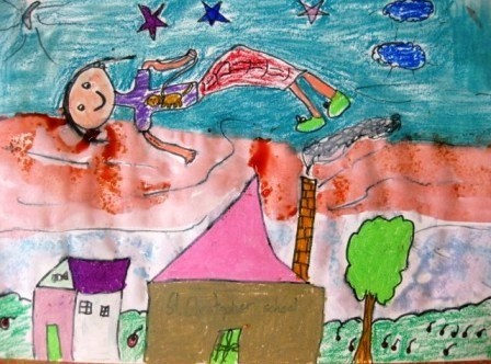 Chagall Inspired Dreaming in Grade 2 | Art Lessons For Kids
