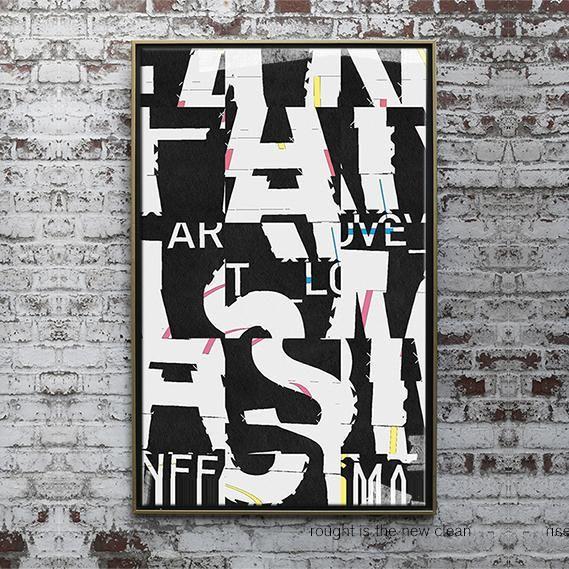 canefantasma, Generative typographic poster