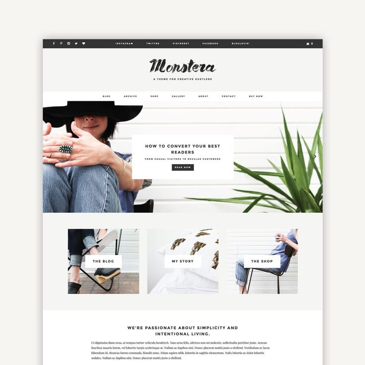 149 best WordPress, Squarespace, Blogger Themes images on Pinterest ...