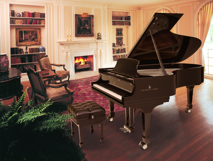 Best 48 pianos in homes images on pinterest piano room for Grand piano in living room