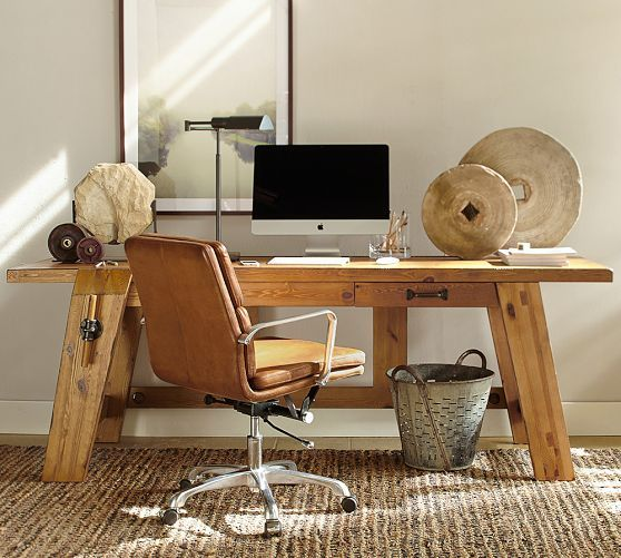 Hendrix large smart technology desk pottery barn home office pinterest rocks desks and - Pottery barn office desk ...