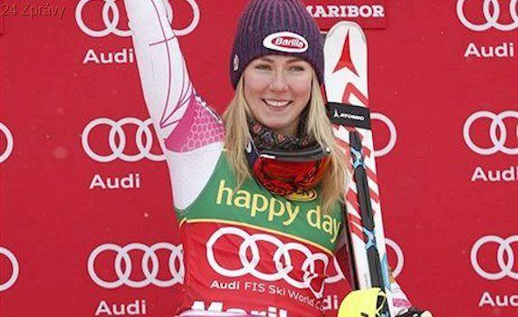 Strachová dojela v Mariboru šestá, i s tyčí mezi nohama vyhrála suverénka Shiffrinová