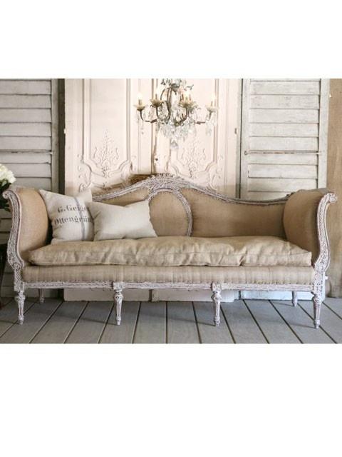 Burlap couch
