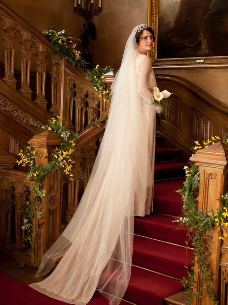 Downton Abbey's Much Anticipated Wedding. I don't watch the show, but I do love this dress.
