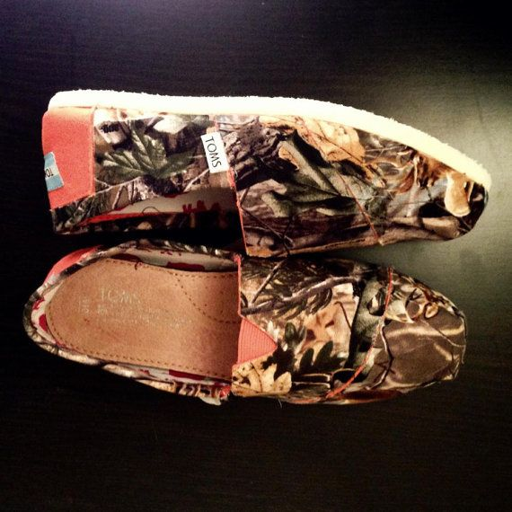 Real Tree Orange Toms Men by ClarkCouturecom on Etsy, $70.00