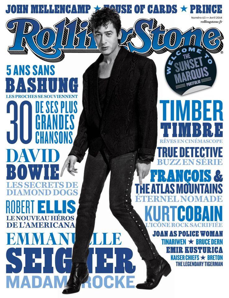 Couverture 63 du magazine ROLLING STONE [France] (3e édition) avec Alain Bashung