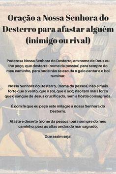 Oração a Nossa Senhora do Desterro para afastar alguém (inimigo ou rival)