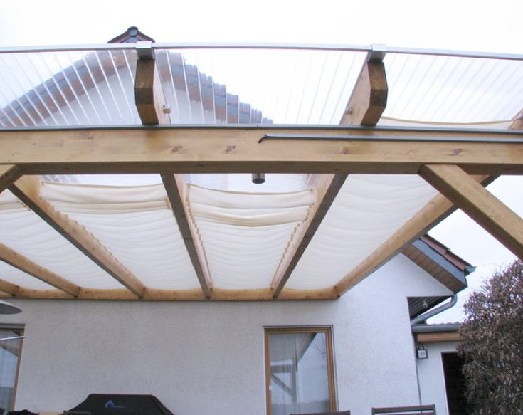 Glasdach-Sonnensegel «61x330 cm» Uni weiß, Faltsonnensegel | Sonnensegel Terrassen-Beschattung Garten Schatten Segel Sonnenschirm