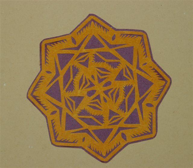 gwiazda z 1913 r. autorstwa Ludwiki Zagórskiej ze wsi Kiczki