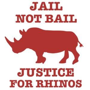 jail not bail - stop rhino poaching