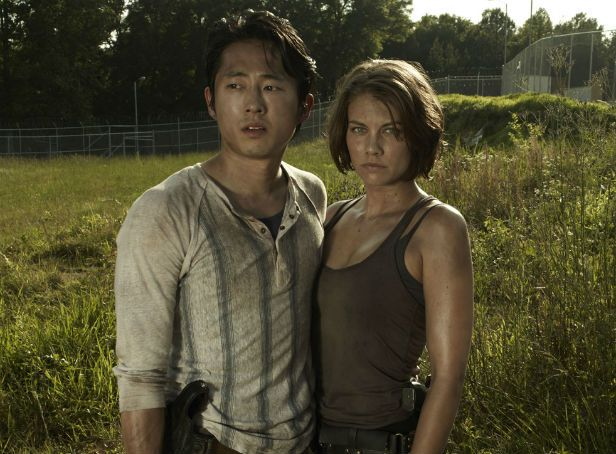 walking dead photos | ... Yuen as Glenn and Lauren Cohan as Maggie in The Walking Dead Season 3