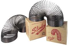 Slinky toys! My younger siblings (who shall remain nameless) were constantly putting kinks in mine.