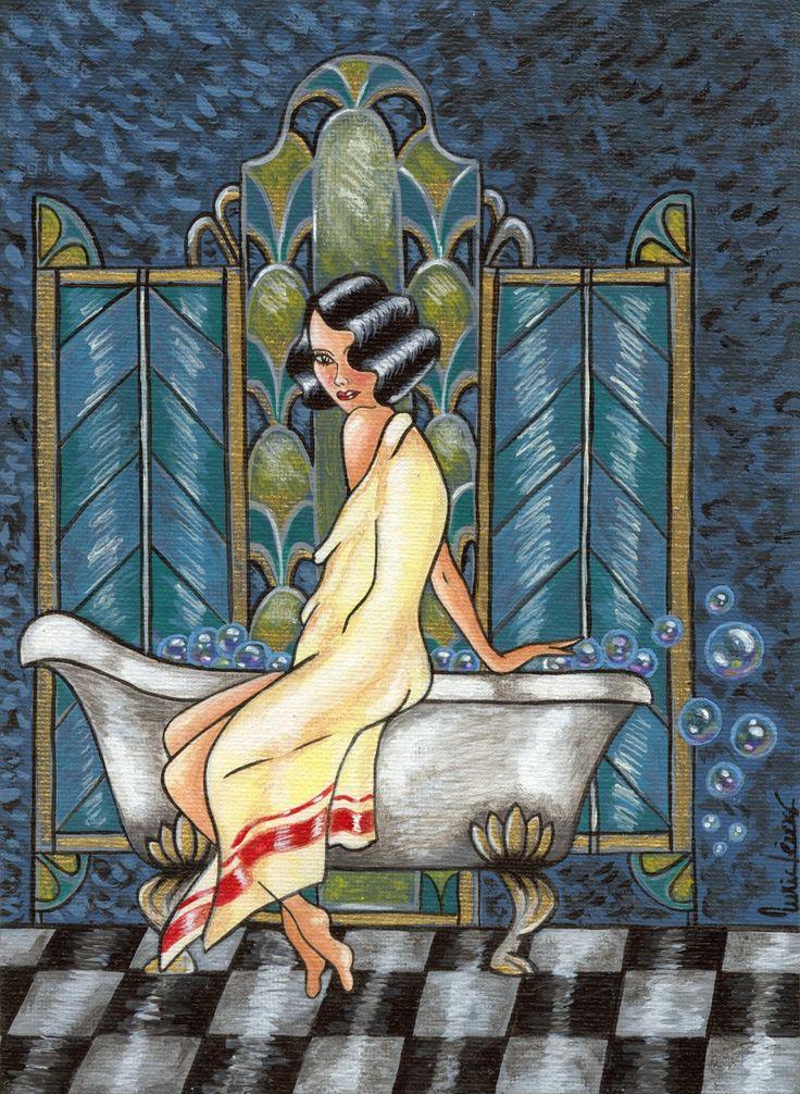 Por nurarte.blogspot.com, baño vintage