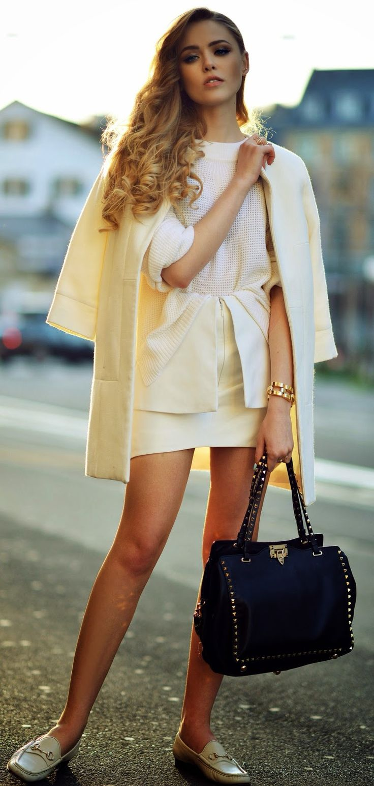 Paper Denim and Knit Sweater | Classic White Stree...