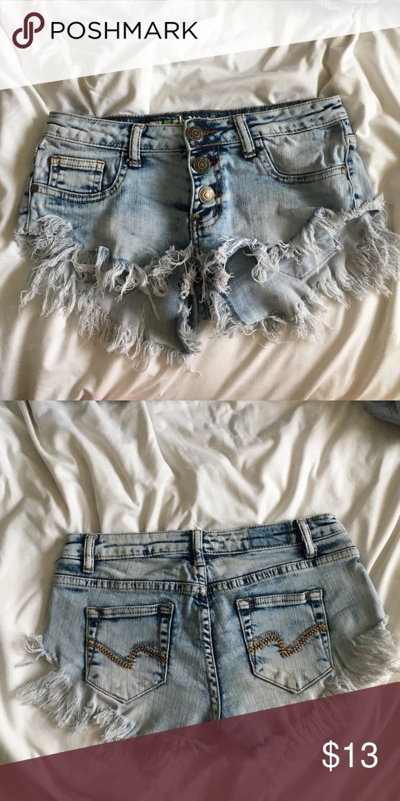 shorts acid washed shorts only worn once or twice perfect condition just don't fit anymore :) Shorts Jean Shorts