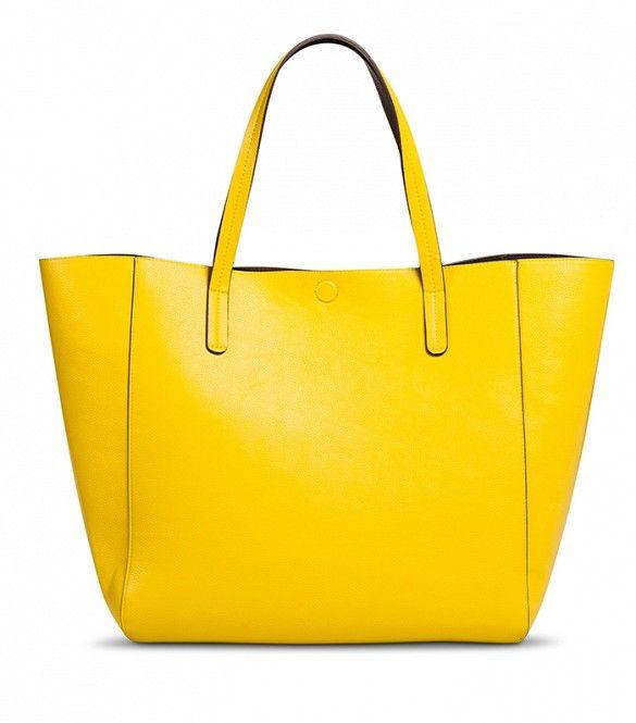 Target Reversible Tote // Yellow tote bag