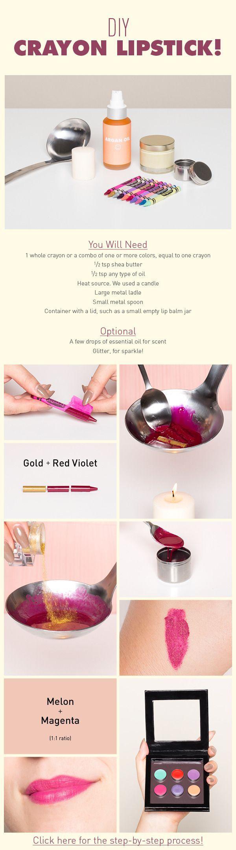 7 DIY Crayon Lipsticks to Make Now Could use Organic Eco crayons