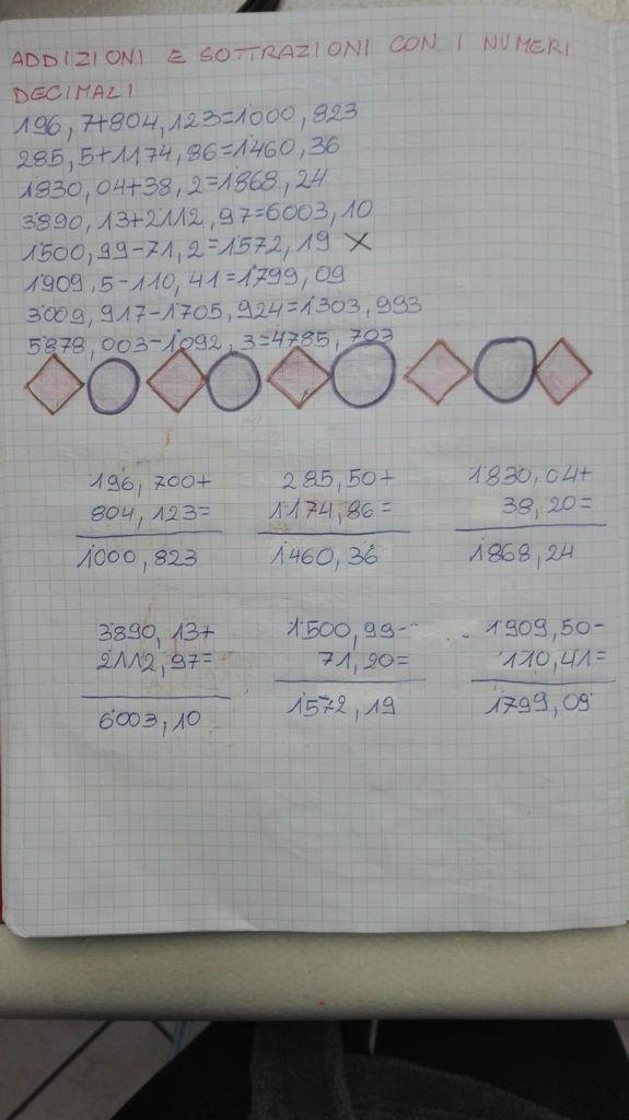 Operare con i numeri decimali-matematica in quarta-aprile ...
