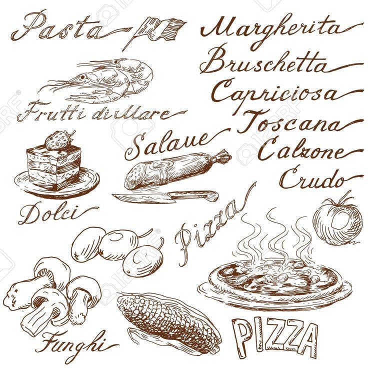 Olasz étel Osok Royalty Free Clip Artok, Vektorokt és Stock Illusztrációk. Image…