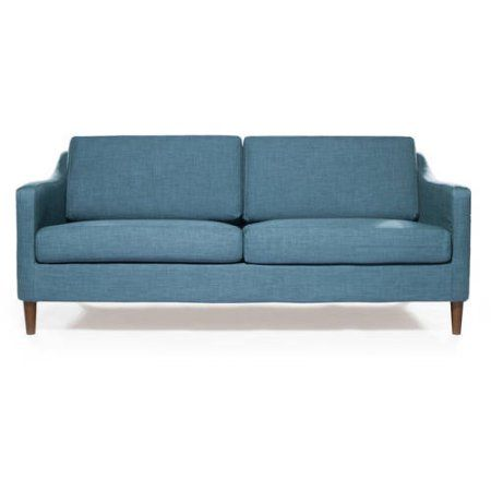 Small Sectional Sofa Better Homes and Garden Griffin Sofa Multiple Colors at Walmart blue stone fabric
