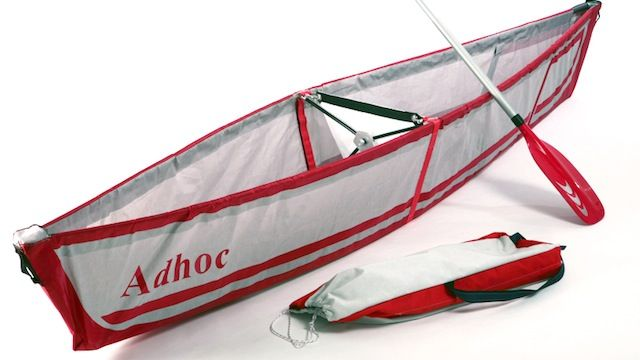 A canoe that fits in your backpack.