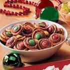 Chocolate Pretzel Rings - If you like chocolate-covered pretzels, you'll love these simple snacks. you can color-coordinate the M's to each holiday.