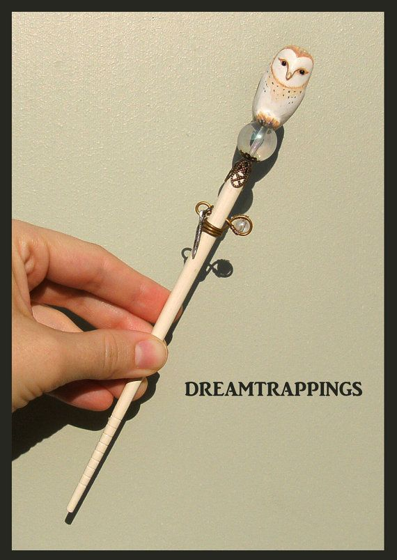 Jareth The Owl Goblin King Sculpted Hair Stick by dreamtrappings