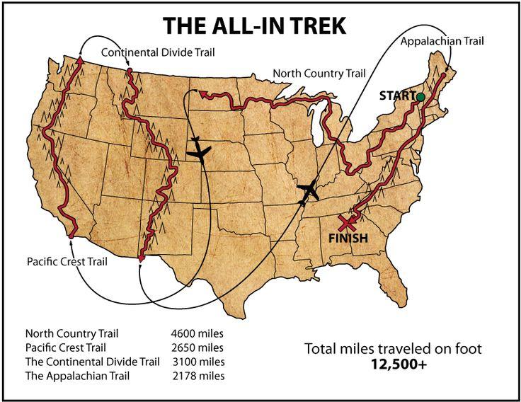 Best Appalachian Trail Map Ideas On Pinterest Hiking The - Us hiking trails map