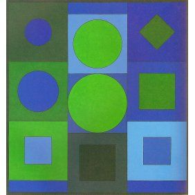 'Alphabet VB' - Victor Vasarely 1960.  Acrylic on canvas.  #art #op_art