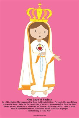 Happy Saints Mother Mary Posters: Happy Saints Our Lady of Fatima Poster, $5.00 from MagCloud