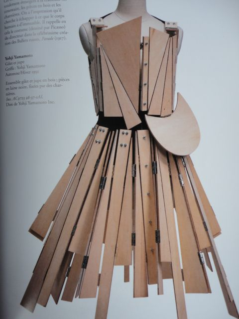 Yohji Yamamoto, wooden dress