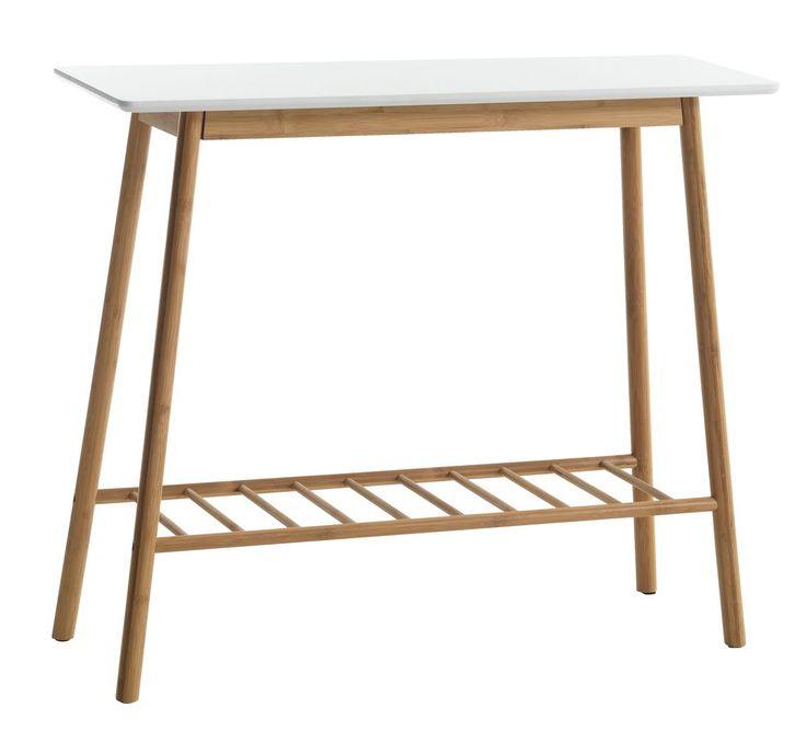 Avlastningsbord VANDSTED vit/bambu | JYSK