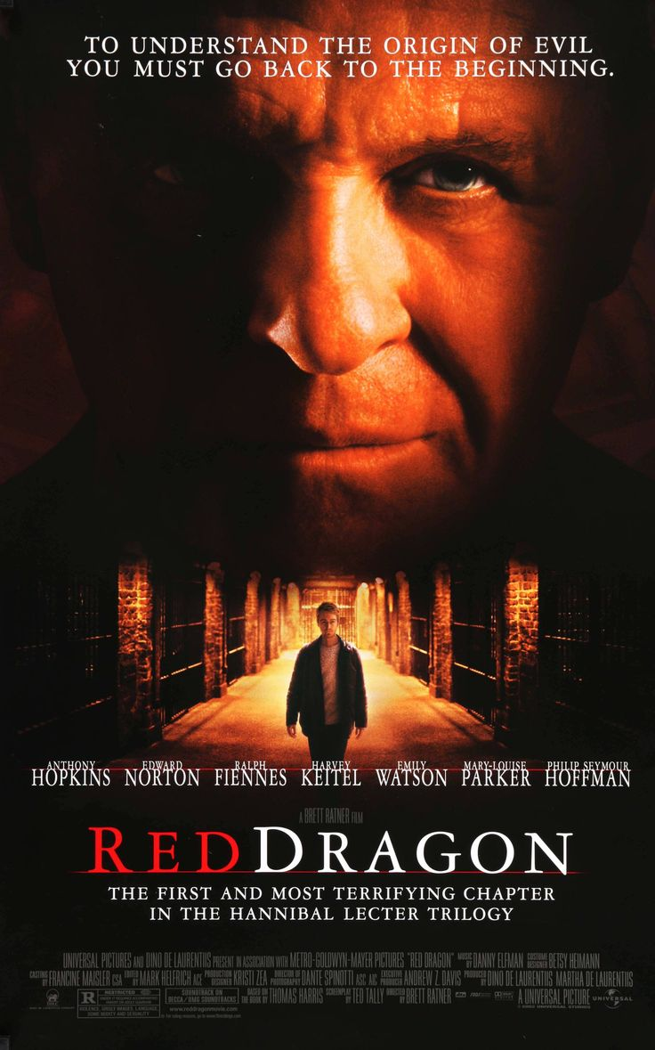 """Red Dragon (2002) Vintage DS One-Sheet Movie Poster - 27"""" x 40"""""""